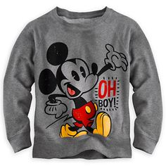 """I really regret buying that Mickey Mouse sweatshirt, I mean I hardly ever wear it."" 