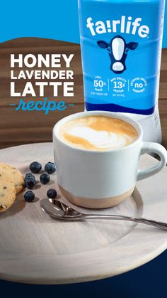 Our Honey Lavender Latte is the delicious start to your morning that you deserve. Try the recipe today and use fairlife ultra-filtered milk with less sugar than regular milk. Apple Pie Recipes, Pound Cake Recipes, Coffee Recipes, Cheesecake Recipes, Soup Recipes, Cooking Recipes, Mojito Recipe, Sangria Recipes, Margarita Recipes