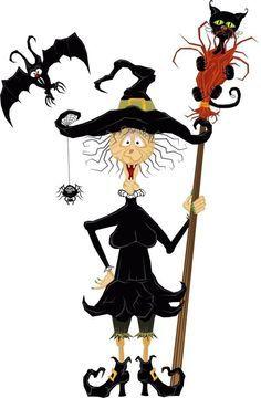 figuras e ilustraciones Halloween | brujitas | calabazas ...