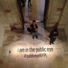 New York Public Library selfie