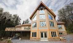 maibec wood siding used: rabbeted bevel siding, board & batten siding, mouldings Wood Siding, Exterior Siding, Board And Batten Siding, Contemporary Architecture, Cabin, House Styles, Dream Homes, Driftwood, Color