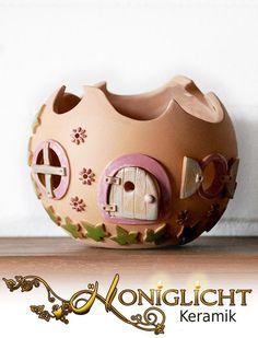Elfenkugel - Windlicht - Keramik von Honiglicht auf DaWanda.com