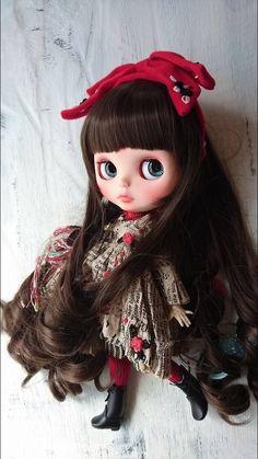 *ayudoll custom blythe*「艶子さん」カスタムブライス 黒髪 - ヤフオク!