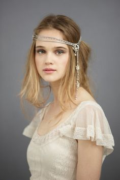 Dreaming of something a bit more unique than a veil for your big day? Shop BHLDN for the most beautiful tiaras, halos, headbands and hairpieces to make you feel like the most elegant bride. Pretty Hairstyles, Wedding Hairstyles, Bride Veil, Boho Bride, Wedding Hair Accessories, Bride Accessories, Hair Jewelry, Jewlery, Hair Pieces