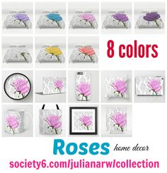 Pretty #roses #homedecor #flowers #floral #duvetcover Detail at society6.com/julianarw/collection