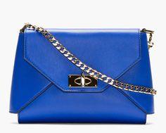 Editor's Pick: Givenchy Royal Blue Leather Shark Lock Envelope Shoulder Bag - http://africanluxurymag.com/editors-pick-givenchy-royal-blue-leather-shark-lock-envelope-shoulder-bag/