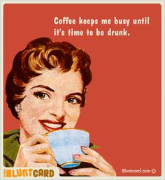 I'm not a coffee drinker usually, but I kind of wish I were so I could say this and mean it :)