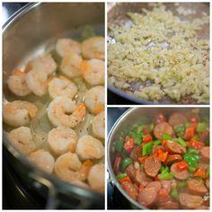 sausage and shrimp skillet