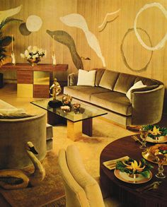 80s 1980s Living Room, Retro Living Rooms, Living Room Decor, 80s Interior Design, Retro Room, Vintage Interiors, Dream Decor, Home Decor Accessories, Decoration