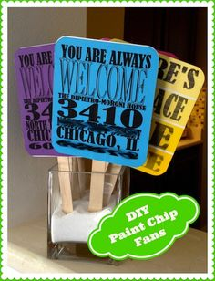 Paint Chip Housewarming Decor & Party Favors | Rosy Events