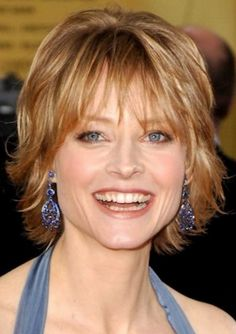 Shag Hairstyles Beautiful Short Layered Shag Hairstyles With Thin Bangs For Older Women Over 40 With Fine Golden Blonde Hair Easy and Fun Short Shag Hairstyles