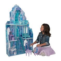Doll House: KidKraft Disney Frozen Ice Castle Dollhouse * Read more at the image link. Frozen Dollhouse, Castle Dollhouse, Dollhouse Toys, Dollhouse Miniatures, Disney Frozen Castle, Frozen Castle Cake, Frozen Frozen, Disney Cars, Frozen Dolls
