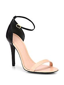 Alexander McQueen - Bicolor Leather Ankle-Strap Sandals - Saks Fifth Avenue Mobile