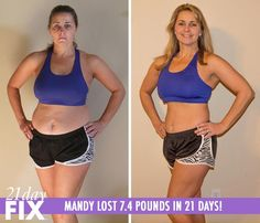 """21 Day Fix results - Mandy B. felt overweight and hopeless - with a full time job, she wasn't left with much time for working out. She tried 21 Day Fix so she could have a lifestyle change, not just a diet. She said, """"I learned that I CAN! I don't have to get used to being overweight just because I'm over 40. I also learned that I DO have time to work out!"""" http://www.tipstoloseweightblog.com/weight-loss/21-day-fix-workout-review #15LBWeightLoss"""