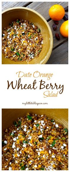 Whole grain wheat berries shine in this chewy, sweet and citrusy salad perfect for summer dinners.