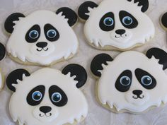 Forest Friends Decorated Sugar Cookies: Panda, Seated or Face