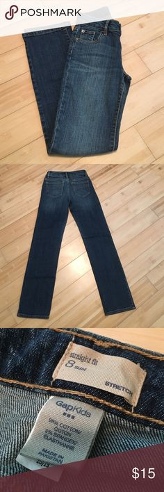 GapKids girls slim fit jeans These jeans have never been worn. No rips or stains. Adjustable waist. Little stretch to them. Cute, comfortable, and in great condition! GapKids Bottoms Jeans