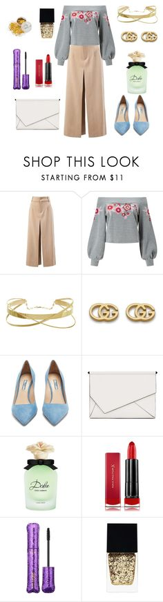 """New Year Party At Home"" by april-1884 ❤ liked on Polyvore featuring Chloé, Miss Selfridge, Gucci, Prada, Kendall + Kylie, Dolce&Gabbana, Max Factor, tarte and Witchery"