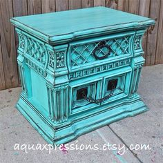 Bayside Blue Night Stand/ End Table /Accent by AquaXpressions, $175.00