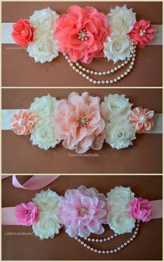 Itu0027s A Girl/ Elegance Maternity Sash/ Girl/ By LittleOrchidStudio