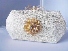 SALE Light Gold Fabric Wedding Bag Clutch by weddingswithflair, $55.00