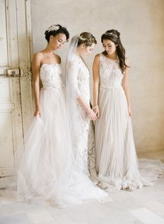 Ethereal wedding dresses: http://www.stylemepretty.com/2016/01/22/elegant-ethereal-wedding-inspiration-bel-aire-bridal-giveaway/ | Photography: KT Merry - http://www.ktmerry.com/