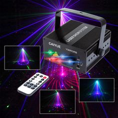 New 96 Patterns RGB Mini Laser Projector Light DJ Disco Party Music Laser Stage Lighting Effect With LED Blue Xmas Lights #Affiliate
