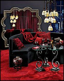 Love the French Boudoir style…I picture a finished basement turned to a swanky lounge…ADULTS ONLY!!