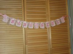 Baby Girl Shower Banner Pink Baby Shower Banner Pink by ItzMyParty