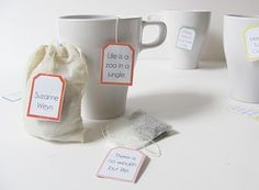 Quotable Tea Bag Tags Tutorial with Free Printable Templates by Shrimp Salad Circus