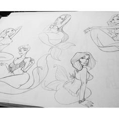 Sketched some mermaids