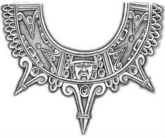 Aztec tattoo  It goes around the neck but I want it on my around my arm instead :) !