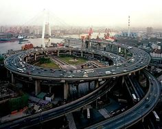 Intersection spiral in Shanghai, China.