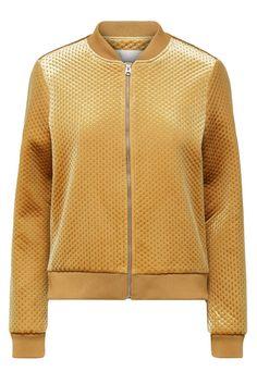 Golden brown velvet jacket