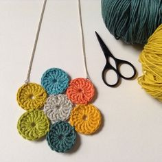 Crochet Circle Necklace £20.00