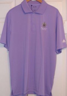 Adidas Pure Motion Men's Golf Shirt, Large, Light Purple, Brand New with Tags #Adidas