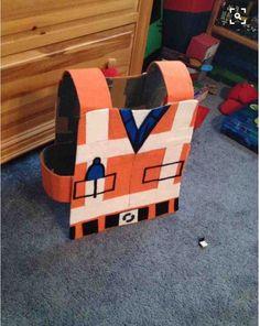 Emmet Lego costume cardboard the Lego movie  construction worker