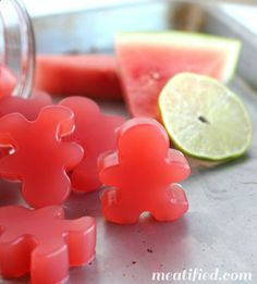 Sour Watermelon Homemade Gummies - These 4 ingredient gummy treats are so much better than processed candy!