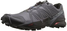 Salomon Men's Speedcross 4 Trail Runner, Dark Cloud, 9 M US: The edition of our iconic and aggressively lugged trail runner for tearing through technical, soft ground with speed. Trail Shoes, Trail Running Shoes, Black Running Shoes, Dark Cloud, Cloud 9, Salomon Running, Best Hiking Shoes, Casual Oxford Shoes, Running Shoe Reviews