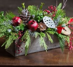 Gift Item | Holidays Winter Berry Centerpiece. Just right for that special HOME! Send one to yourself and one to a friend, today!