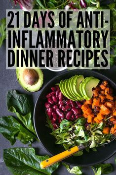 21 Day Anti Inflammatory Diet for Beginners | Looking for an anti-inflammatory meal plan to help boost your immune system and keep your autoimmune disease under control while also helping you to lose weight? We've put together a 21-day meal plan for beginners, complete with breakfast, lunch, dinner, and snack recipes you'll love. #weightloss #cleaneating #antiinflammatory #antiinflammatorydiet #antiinflammatoryrecipes