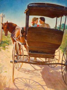Frederick Sands Brunner (1886 - 1954) - El paseo en carro