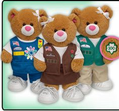 Build a bear has a new line of Girl Scout bears and clothes! So cute!