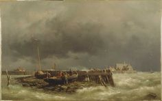 Lucia's Flood was a storm tide that affected the Netherlands and Northern Germany on 14 December the day after St. Storm Surge, Amsterdam City, Dutch Painters, Dutch Artists, North Sea, Nature Images, Live In The Now, Vincent Van Gogh, Beautiful World