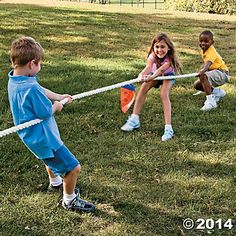 Tug of War is fun and fosters teamwork and cooperation.