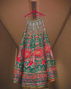 Bridal Lehengas - Pink and Blue Lehenga Indian Bridal Lehenga, Red Lehenga, Lehenga Choli, Sabyasachi Lehengas, Anarkali Gown, Pakistani Dresses, Indian Dresses, Indian Outfits, Indian Attire