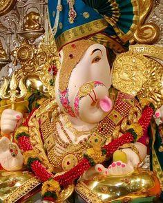Image may contain: 1 person Dagdusheth Ganpati, Ganpati Bappa, Sri Ganesh, Ganesha, Ganpati Decoration At Home, Ganpati Festival, Ganesh Idol, God Pictures, Hinduism
