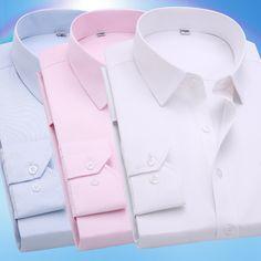 2016 Printemps Classique Hommes Rayé Robe Chemise Manches Longues Turn down Collar Régulier Fit Hommes D'affaires Bureau Chemises 20 couleurs dans Robe Chemises de Hommes de Vêtements et Accessoires sur AliExpress.com | Alibaba Group
