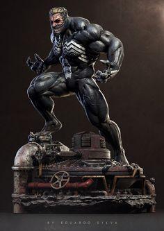 The art of Eduardo Silva - Page 3 Marvel Vs, Marvel Heroes, Venom Figure, Character Art, Character Design, Marvel Statues, Venom Art, Custom Action Figures, 3d Prints