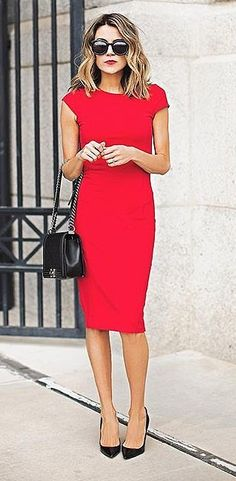 For a red dress for a perfect date night look.